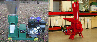 13hp Pellet Mill & 7.5hp Hammer Mill Gas Powered Combo. Free Shipping! In stock!