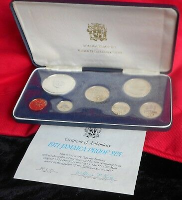 1971 Jamaica Proof Set in Case With/COA(HM1017)
