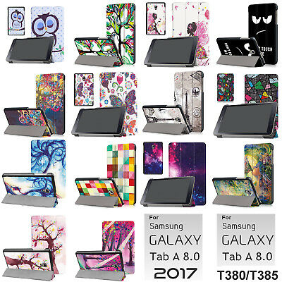 Tab A 8.0 2017 Case,Auto Sleep/Wake Case For Galaxy Tab A 8.0 T380/T385 -Print