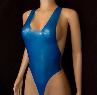 latex tank leotard sizes L or XL - 7 colours available seamed rubber