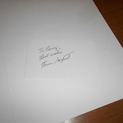 Brian Gottfried is a retired tennis player Hand Signed Index Card
