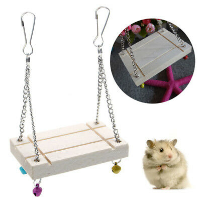 Pet Hamster Toy Swing- Gerbil Rat Mouse Bird Animal Ladder Step Hanging Fun