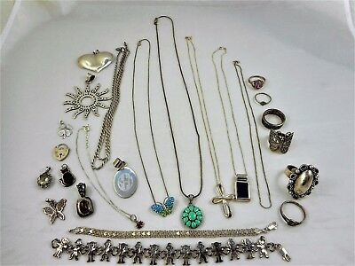 151 Gram Mixed Lot of Sterling Silver Pieces for Scrap or Not