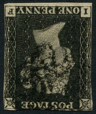 SG 2Wi 1d Penny Black Watermark Inverted Fine Used Cat £2500.00 (Ref: A644)