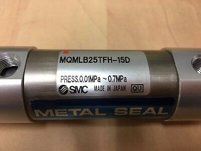 SMC MQMLB25TFH-15D cyl, metal seal, low friction pneumatic cylinder