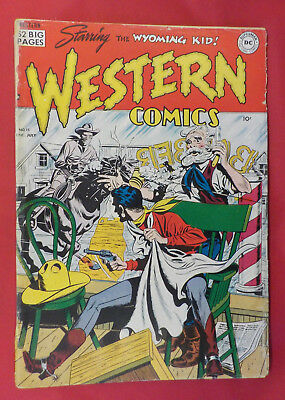 Western Comics #15 ! DC 1950 ! NIGHTHAWK ! OFF-WHITE PAGES but... hayfamzone