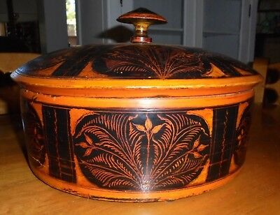 ANTIQUE BURMESE LACQUERED FOOD BOX-19th Century