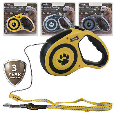 Retractable Dog Lead Flexi Locking Extending Leash Comfort Padded Large 8M 35KG