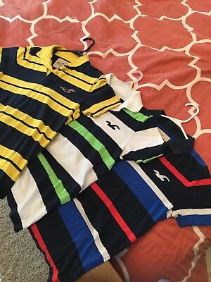 Lot Of (6) Hollister Polo Shirts (S)