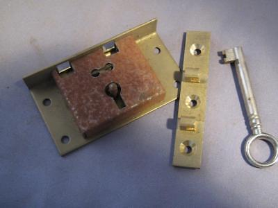 Brass box lock & key