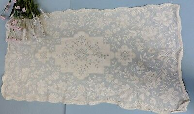 Vintage  French Lace Centerpiece / Runner with floral  pattern