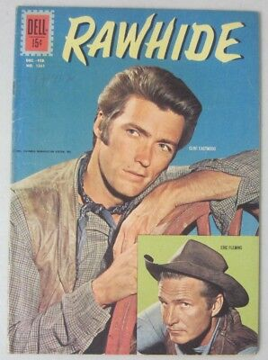 Rawhide (#5) Dell Comics Four Color #1261 Tv Western Eric Fleming Clint Eastwood