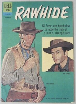 Rawhide #01-684-208 Aug. 1962 Dell Comic Tv Western Eric Fleming Clint Eastwood