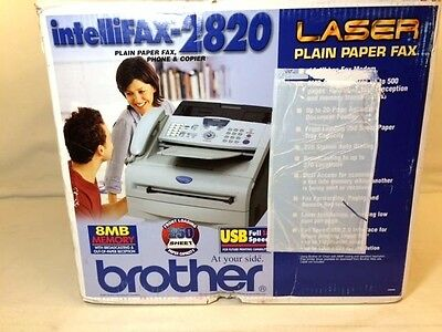 Brother Intellifax 2820 Laser Fax Copier Printer