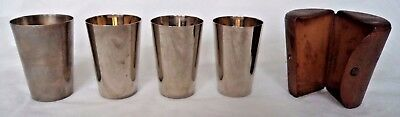 VICTORIAN c1900 FINNIGANS BOND STREET SET SILVER PLATE GRADUATED HUNTING CUPS