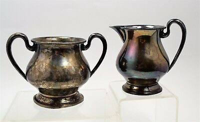 Sterling silver sugar and creamer MFH 406 M. Fred Hirsch