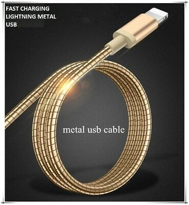 Tough Armored Metal USB Lightning Charger Cable for Apple iPhone 5 6 7 8 X iPad