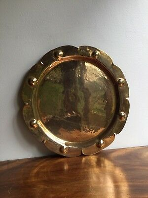 Vintage/antique hammered copper charge/plate arts and crafts style
