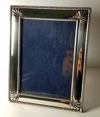 Lovely Rc Carrs Solid Silver Photo Frame Sheffield 1996 Beaded W Shell Design