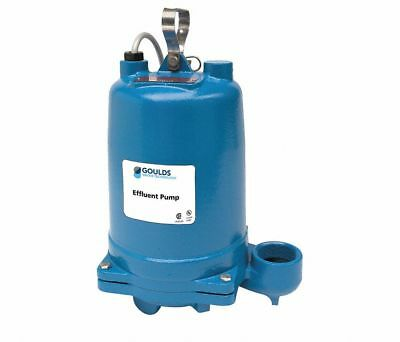 Goulds  We0311M Submersible Effluent Pump, 1/3 Hp, 120 Vac, 2Nuz6 New!