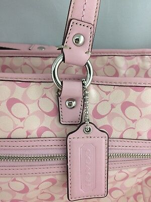 Authentic Coach Diaper Bag Pink Poppy Mom Large Bag Baby