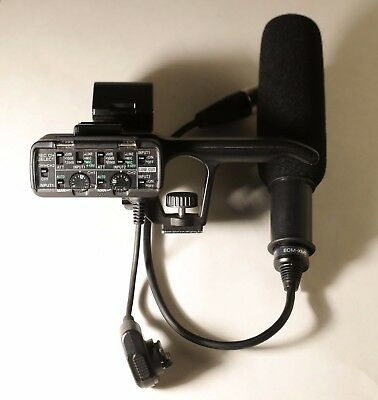 Sony XLR Audio Adapter with ECM-XM1 Microphone (HXR-NX30, HXR-NX70E, HXR-NX3D1)