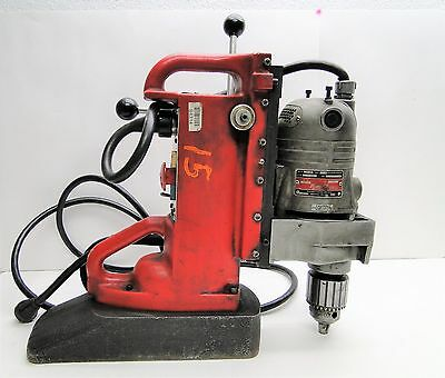 Milwaukee # 4221 Electromagnetic Drill Press With # 4262-1 Drill Motor