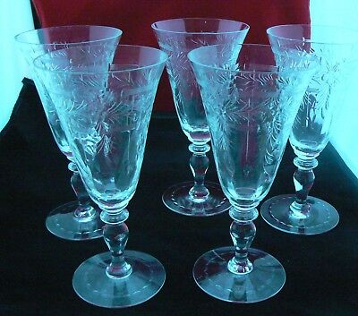 Antique Hawkes Water? Crystal Stemware (as  found)