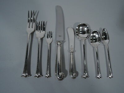 Traditional Onslow Set for 12 - 122 Pieces - English Sterling Silver - 1950s/60s