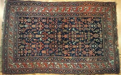 Marvelous Malayer - 1900s Antique Persian Rug - Tribal Carpet - 4.7 x 7 ft.