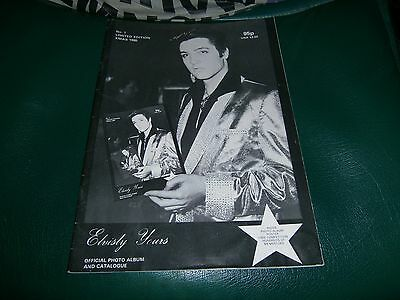 Elvisly Yours - 36 Page Paperback Book Official Photo Album And Catalogue (1980)