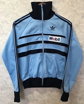 Adidas Vintage Track Jacket Baby Blue Three Stripes Size Small