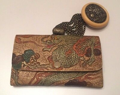 Traditional Japanese Meiji Tobacco Pouch