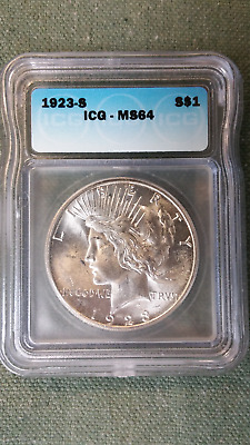 1923-S Peace Dollar ICG MS64  PROBLEM FREE and ATTRACTIVE