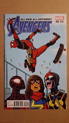 All-New All-Different Avengers #4 (Marvel Comics) Variant Cover ~ Deadpool ~ NM