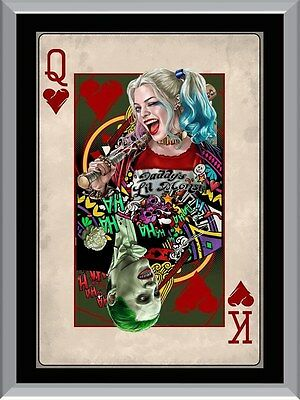 Suicide Squad Joker and Harley Quinn Card A1 To A4 Size Poster Prints