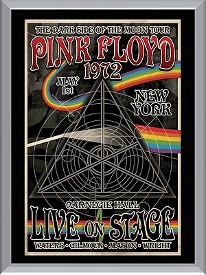 Pink Floyd Dark Side Of The Moon Tour 1972 A1 To A4 Size Poster Prints