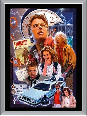 Back to The Future Art A1 To A4 Size Poster Prints