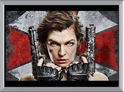 Resident Evil - Milla Jovovich A1 To A4 Size Poster Prints