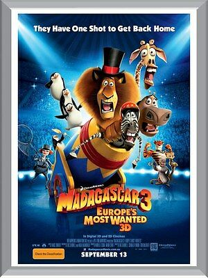 Madagascar 3 Movie A1 To A4 Size Poster Prints