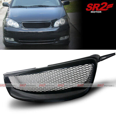 Front Upper Metal Mesh Black ABS Hood Grille Grill fits for 03-08 Toyota Corolla