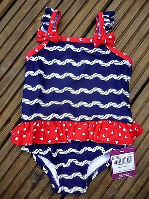 Baby Girls Swimming Costume Swimsuit Integrated Swim Nappy 3-6-9 12-18 months