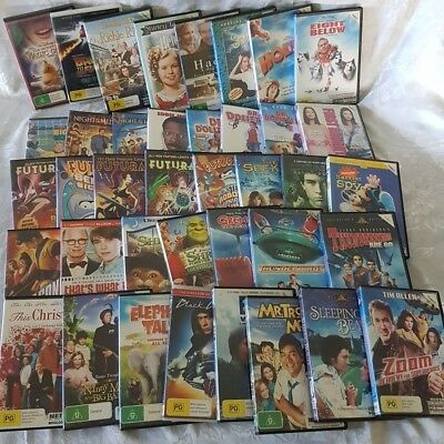 Family Movie Pack 38 x DVDs Dr Dolittle, Futurama, Heidi, Splash, Back to Future