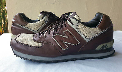 Rare Mens New Balance M574 Limited Edition Brown Leather  Size 11 2E M574LEBB