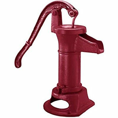 Pitcher Pump Red Cast Iron Hand Powered Water Source Heavy Vintage Well Pump