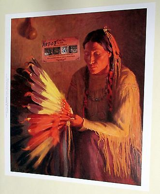 WAR BONNET Indian Print by Henry Sharp Buffalo Bill Historical Museum AWESOME!