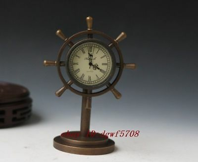 Handmade available  mechanical clock bronze statue clock