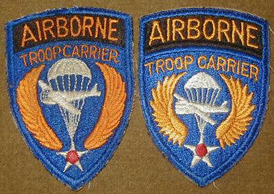 Original WWII Airborne Troop Carrier patch lot (2) - Variations