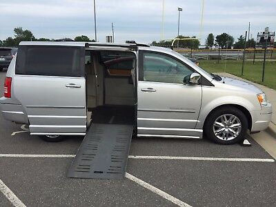 "2010 Chrysler Town & Country Limited Wheelchair Van with 10"" Lowered Floor and Side Entry Automatic Fold Out Ramp"