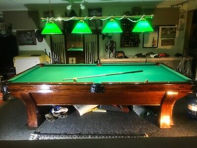 1912 Brunswick Balke Collender Antique Pool Table - Rochester Model